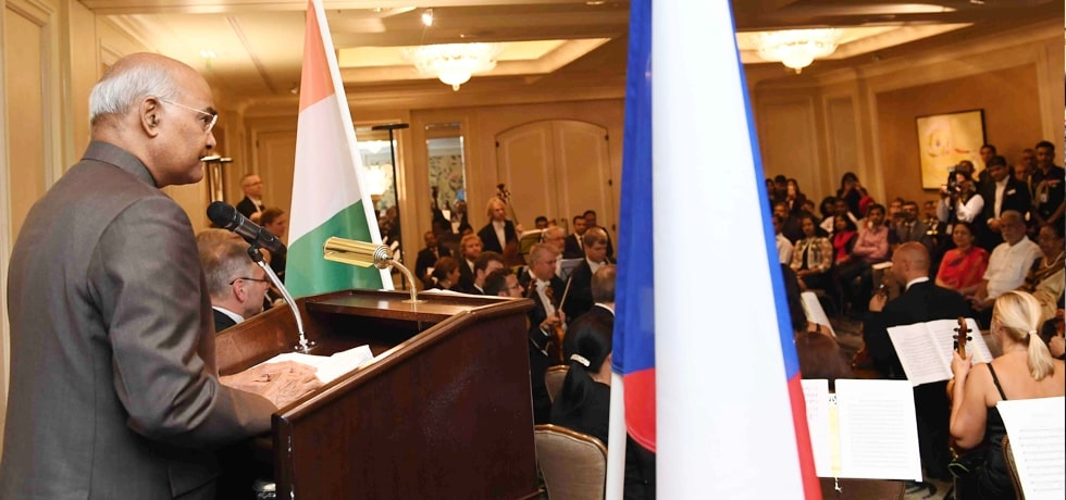 President addresses Indian Community during his State Visit to Czech Republic