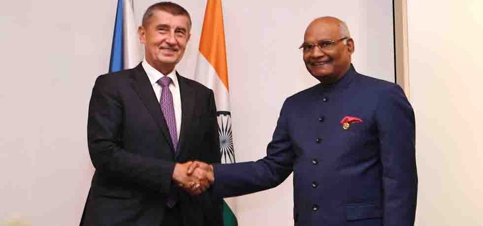 President meets Andrej Babis, Prime Minister of Czech Republic in Prague