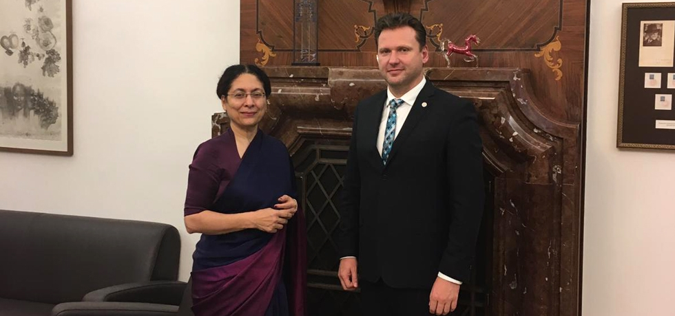 Ambassador met H.E. Mr. Radek Vondrácek, President (Speaker) of the Chamber of Deputies of Parliament of the Czech Republic on 25 October, 2018