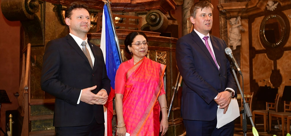 Czech Foreign Minister H.E. Mr. Tomáš Pet?í?ek addresses the Indian National Day Reception on 27 January, 2020