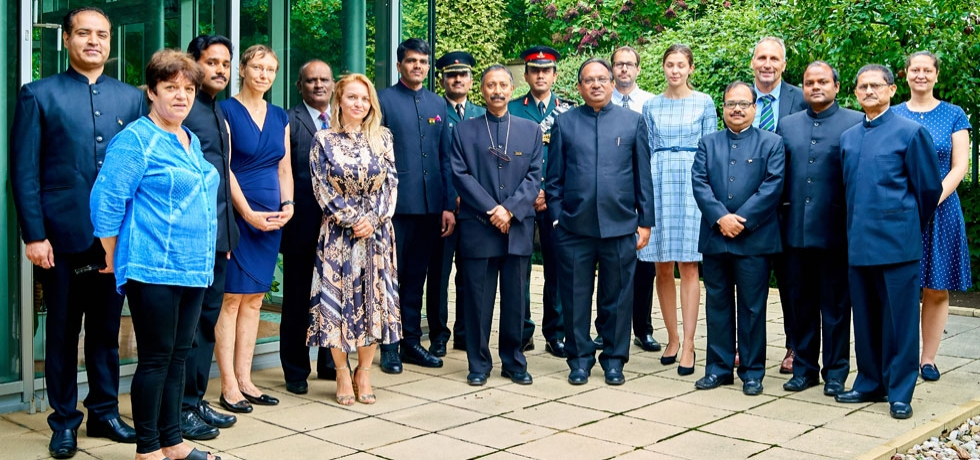 Celebration of 74th Independence Day of India in Embassy of India, Prague on 15th August 2020