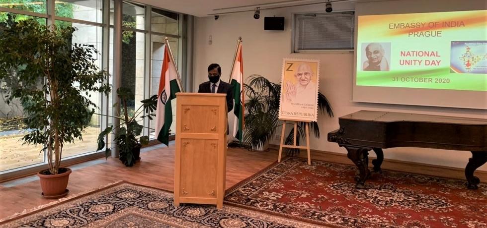 H.E. Mr. Hemant H. Kotalwar, Ambassador administered 'Rashtriya Ekta Diwas' pledge on 31 October, 2020