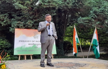 Ambassador of India to the Czech Republic, H.E. Mr. Hemant H. Kotalwar addressing the Indian community- 24 July 2021 #India@75